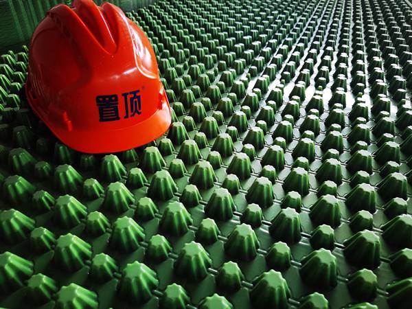 置顶PVC绿色排水板