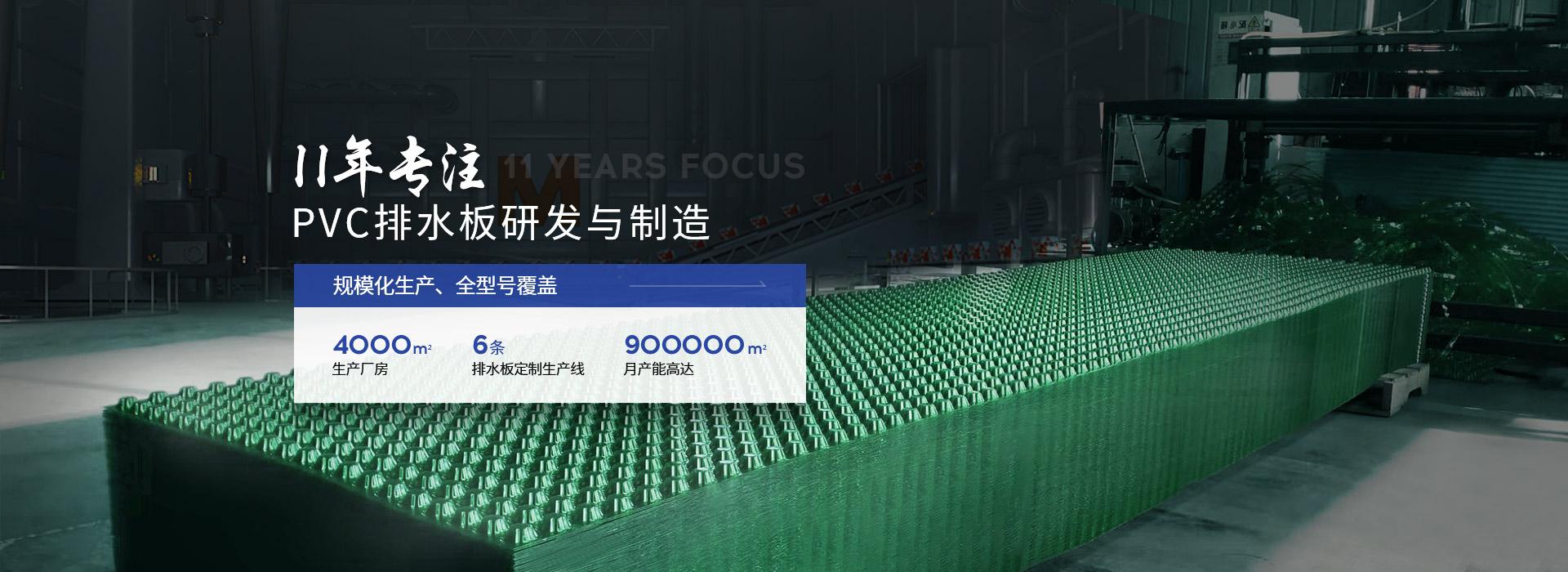 置顶PVC排水板11年专注PVC排水板研发与制造